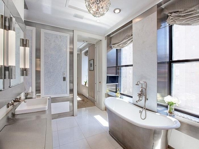 Оригинальный современный интерьер ванной комнаты, что понравится и качественно преобразит обстановку.