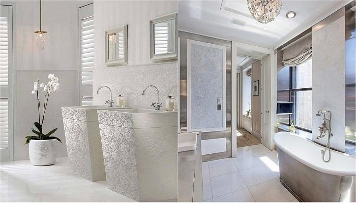 Преображение ванной комнаты с помощью светлых оттенков.