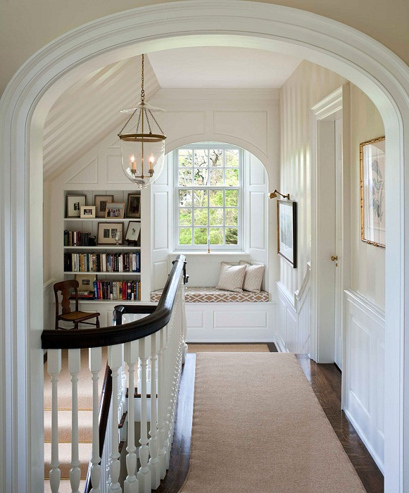 Симпатичное решение преобразить комнату с помощью нежного интерьера.