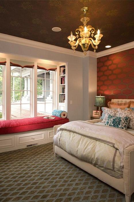 Отменное решение создать чудную обстановку в комнате с хорошим местечком для отдыха.