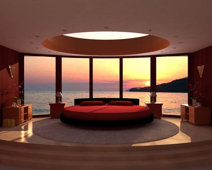 Комната с ярким освещением и большим окном, которое добавляет своеобразного колорита и необыкновенных ноток вдохновения.
