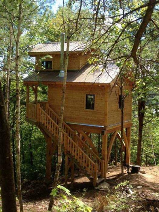 Шикарное оформление дома на высоте в лесной глуши - отменное место для отдыха.