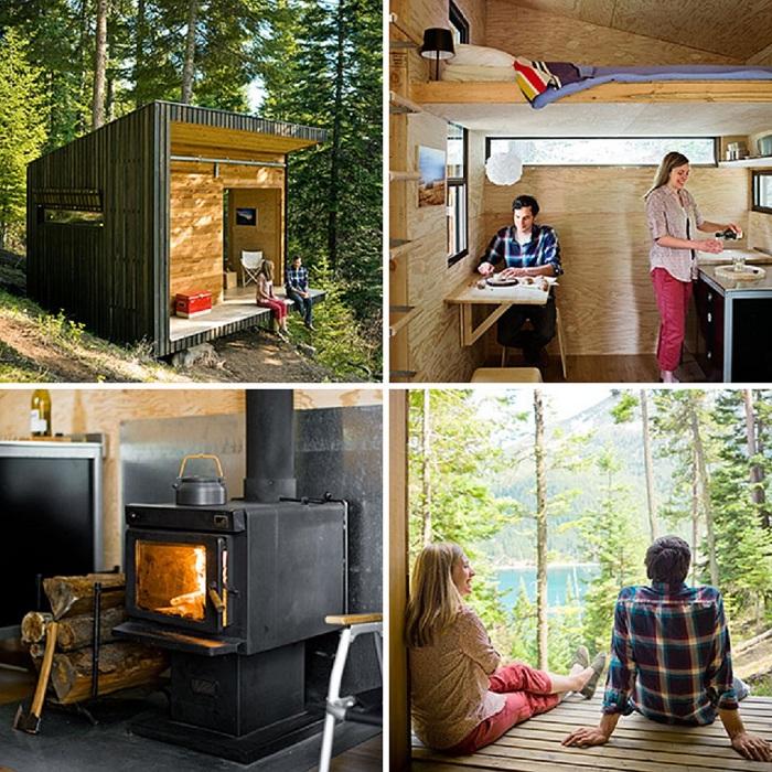 Небольшой домик в лесу - это комфортно и уютно.