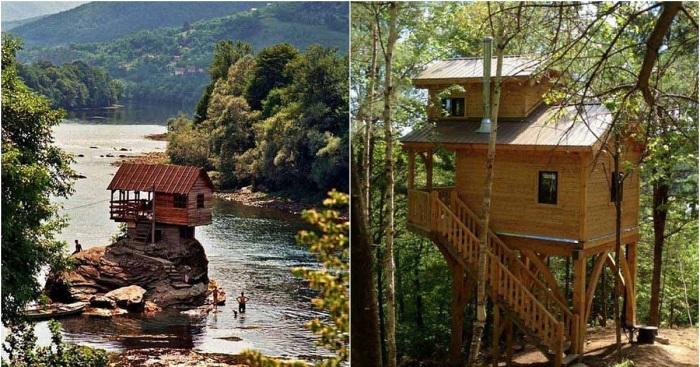 Невероятные деревянные коттеджи, которые вдохновят.