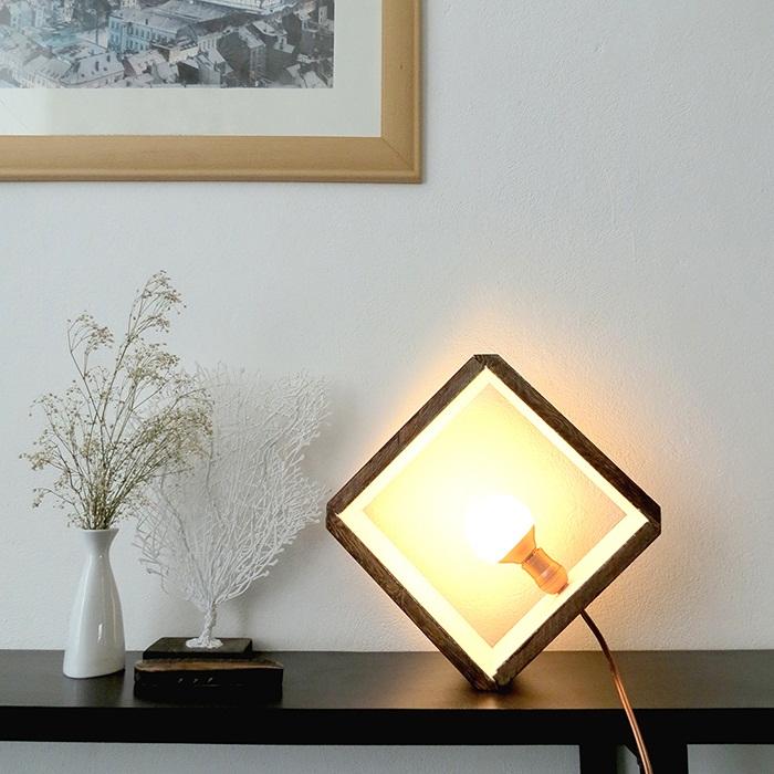 Креативное и безумно крутое решение создать светильник в квадрате, что точно понравится и преобразит любой интерьер.