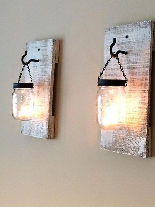 Если интерьер комнаты или коридора преобразить при помощи таких интересных фонарей, то это позволит создать просто волшебную обстановку.