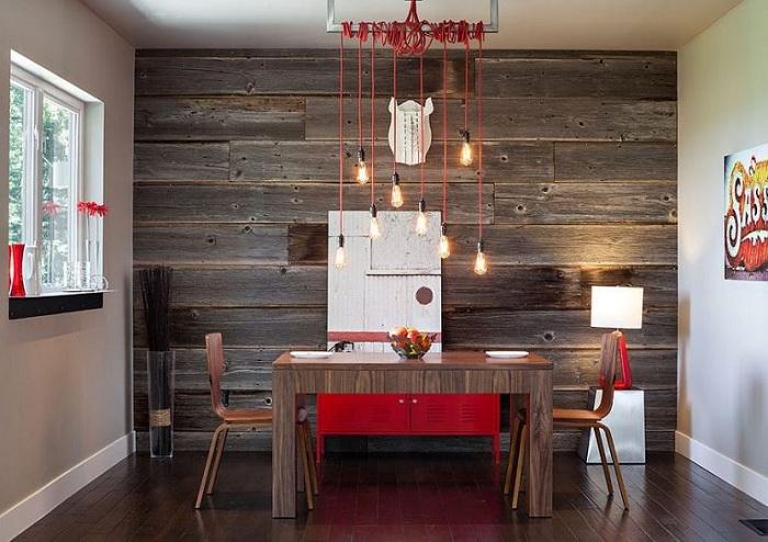 Интерьер кухни вдохновит особенным дизайном основной стены.