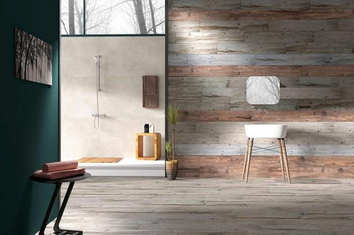 Удачное решение комфортно обустроить ванную комнату в современном оформлении.