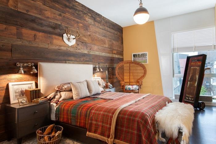 Решение обустроить спальню в современных тенденциях.
