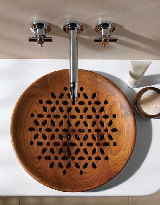 Решение преобразить интерьер с помощью крутой деревянной раковины, что вдохновит.