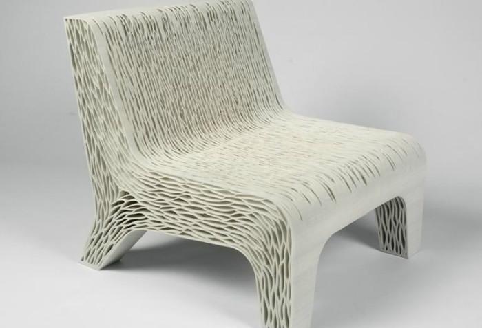 Кресло с губчатой структурой. Дизайнер Лилиан ван Даль (Lilian vanDaal) из Голландии