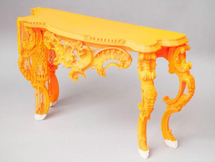 Резная консоль напечатаная на 3D-принтере