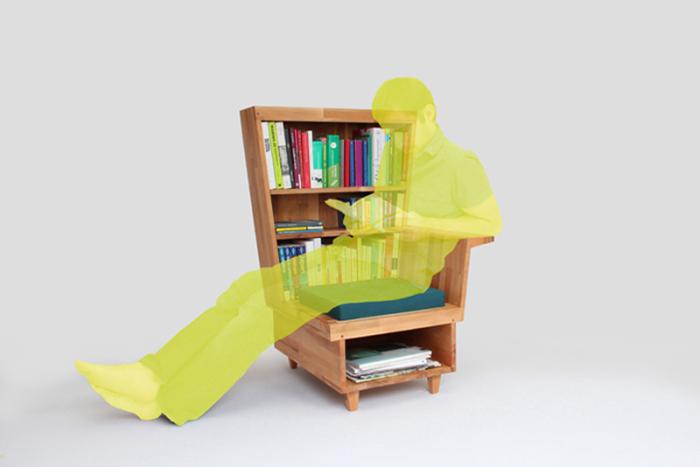 Оригинальный и практичный способ хранения книг
