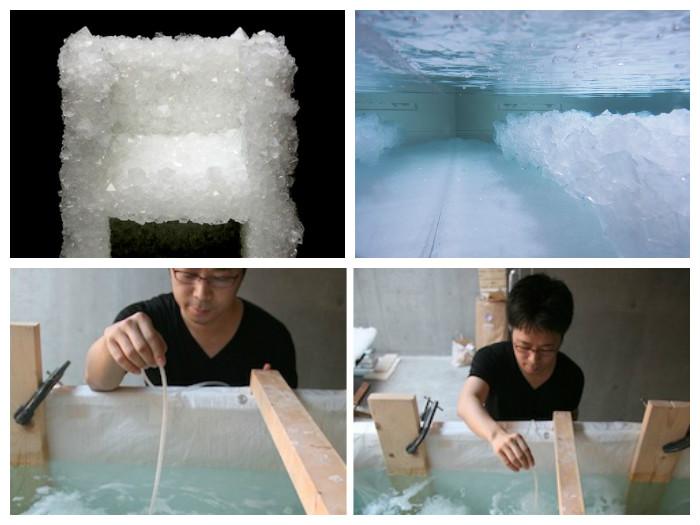 Необычный способ изготовления мебели