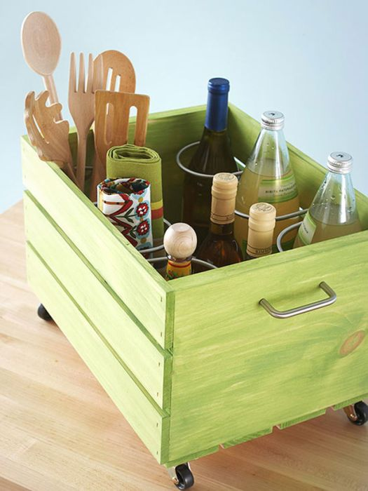 9. Отличная идея для хранения кухонных мелочей