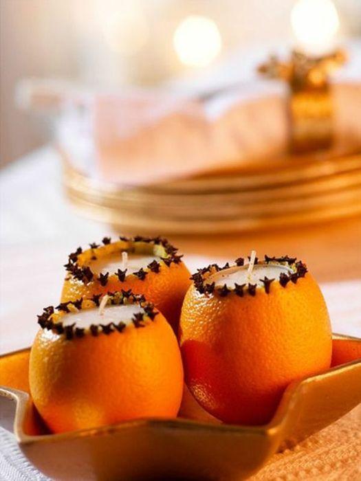Подсвечники-апельсины