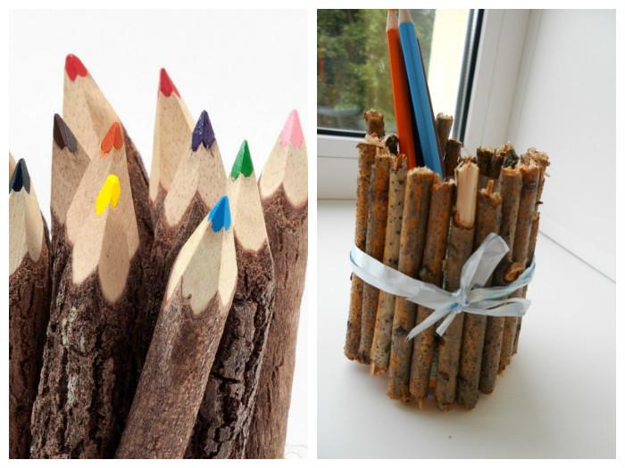 Дети будут в восторге от оригинальных подставок для канцелярских принадлежностей или необычных композиций в виде карандашей