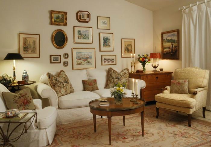 Гармоничный интерьер гостиной