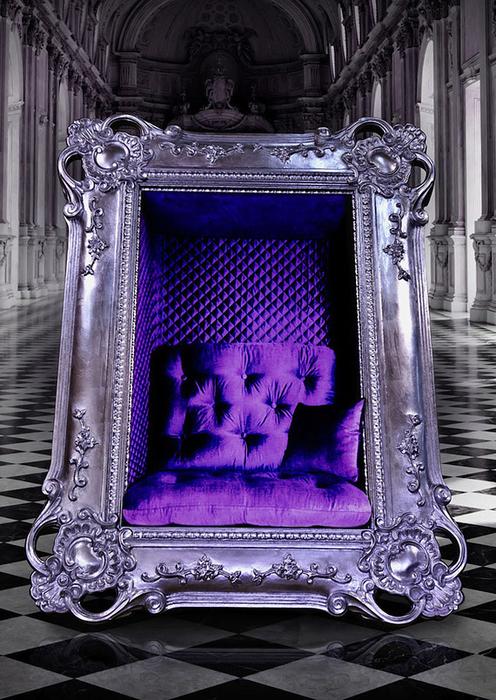 Роскошное кресло в виде картины
