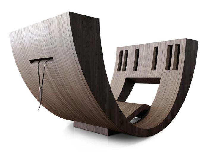 Это одновременно: кресло, место для отдыха и книжный шкаф