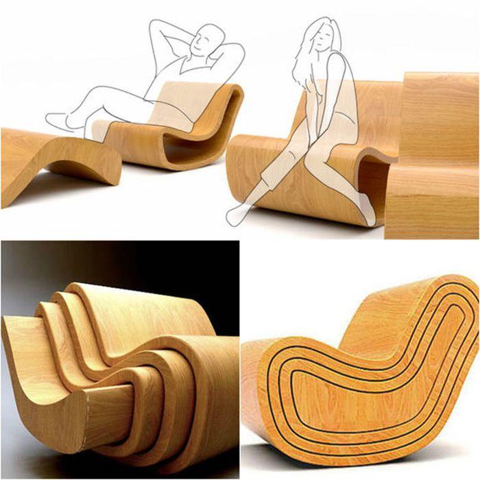 Происходит быстрый процесс трансформации кресла по типу матрёшки