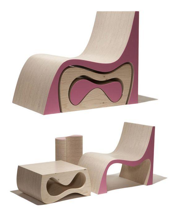 Мебель-матрёшка быстро трансформируется