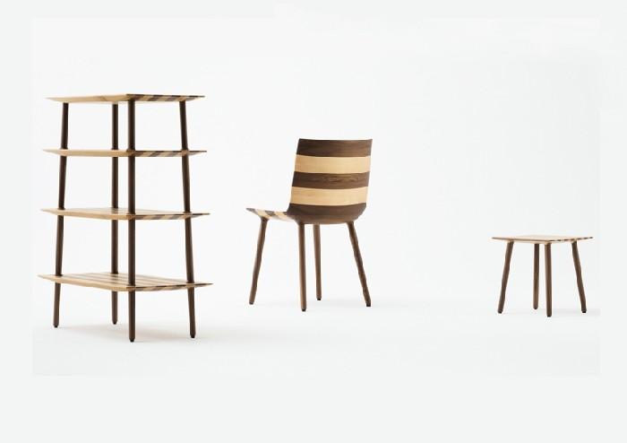 Мебель в полоску Claesson Koivisto Rune's, изготовлена на станках, где установлено числовое программное управление.