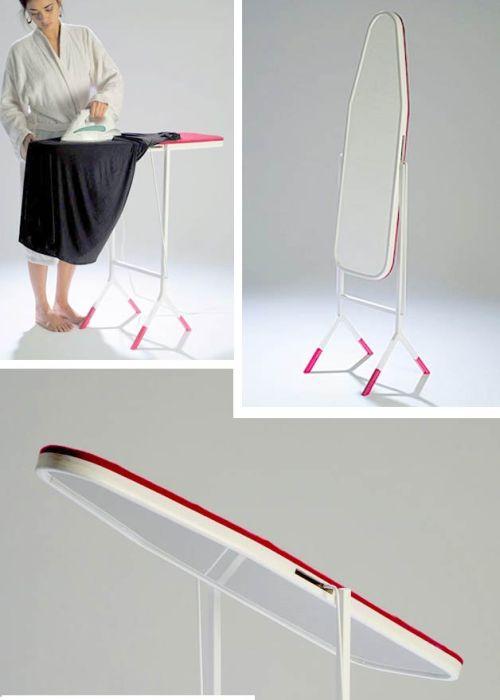 Лёгким движением руки гладилка превращается в зеркало