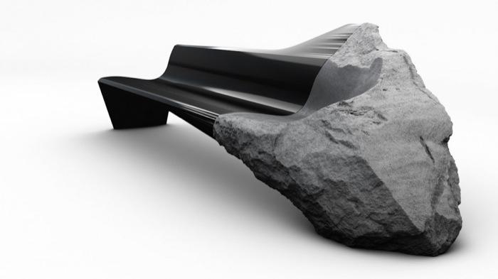 Софа из вулканической лавы