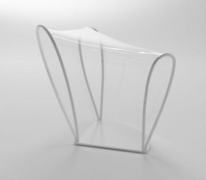 Лёгкое кресло из эластичного полиуретана