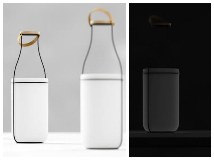 Дизайн в стиле ретро: светильник-бутылка