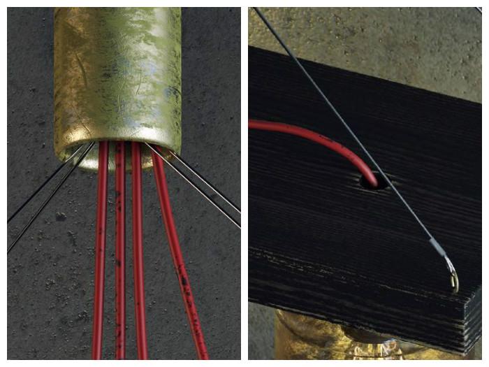 Светильник состоит из обычных материалов, которые найдутся в каждом доме
