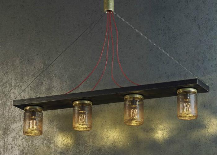 Стильный светильник из банок