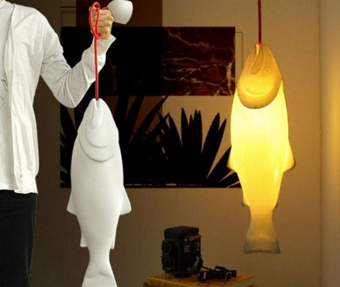 Лампа-лосось