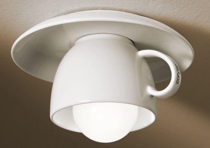 Чашка капучино на потолке