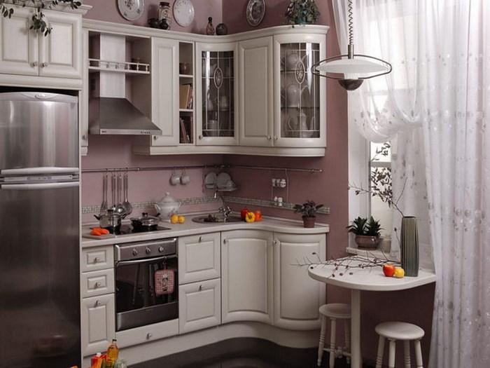 Компактная угловая кухня