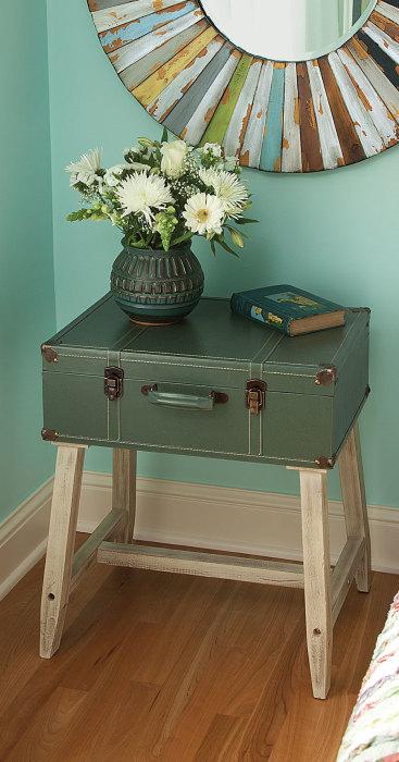 Прикроватная тумбочка из старого чемодана - популярная и удобная вещь в интерьере, которую легко сделать своими руками.