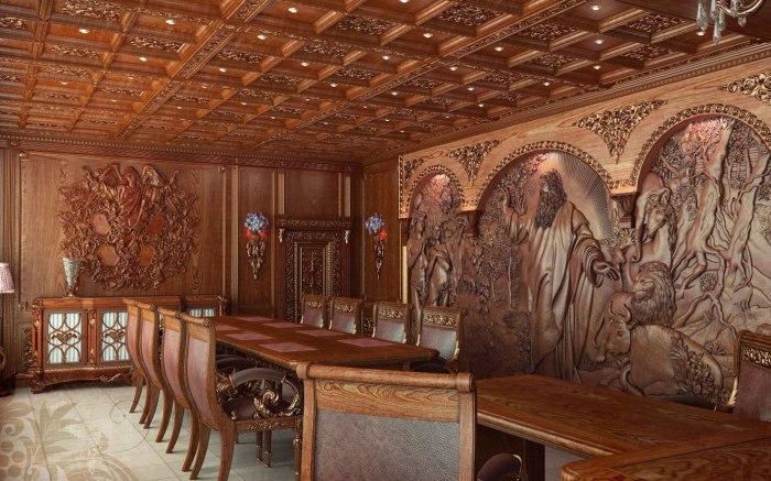 В век искусственных материалов особенно элегантно, богато и изысканно смотрятся деревянные резные мебели в любом современном интерьере.