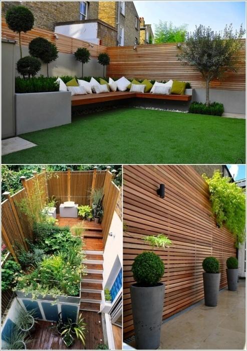 Панельные забор из обыкновенных деревянных реек - популярный и доступный способов ограждения дачного участка.