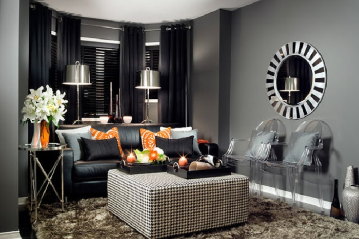 Оригинальные идеи по обустройству небольшой гостиной комнаты в современном стиле.
