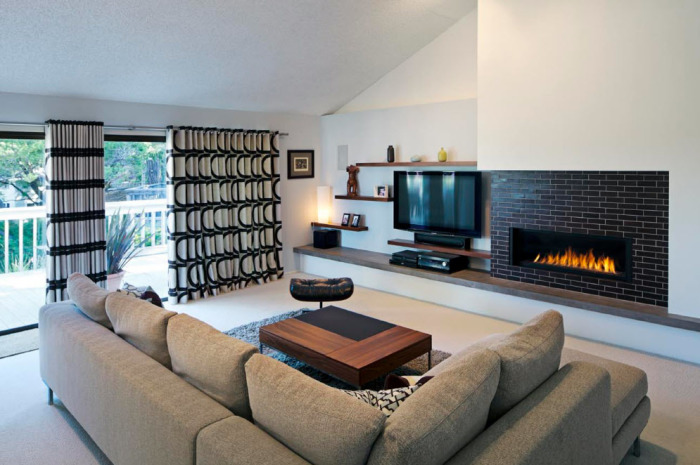 Небольшая гостиная комната, которая отлично подойдёт для ценителей современного интерьера.