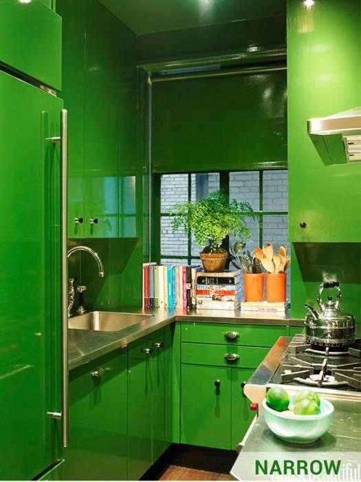 Яркая модульная стенка, которая отлично впишется в любой интерьер кухни.