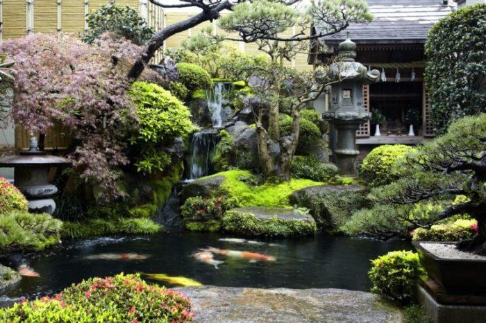 Классический японский сад, который символизирует совершенную гармонию с природой.