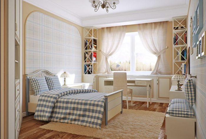 Клетчатые обои - хороший способ разнообразить декор комнаты и добавить акценты.