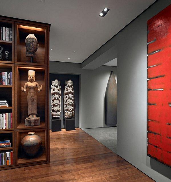 Монументальная скульптура в японском интерьере является символом материального благополучия и стабильности.