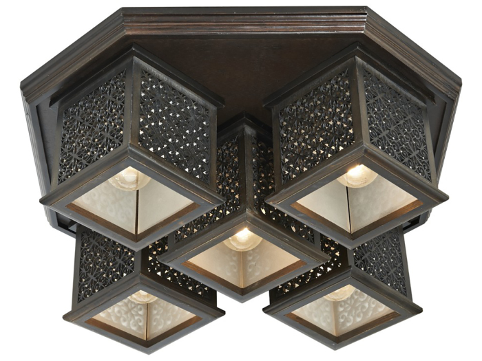 Итальянский деревянный светильник в восточном стиле.