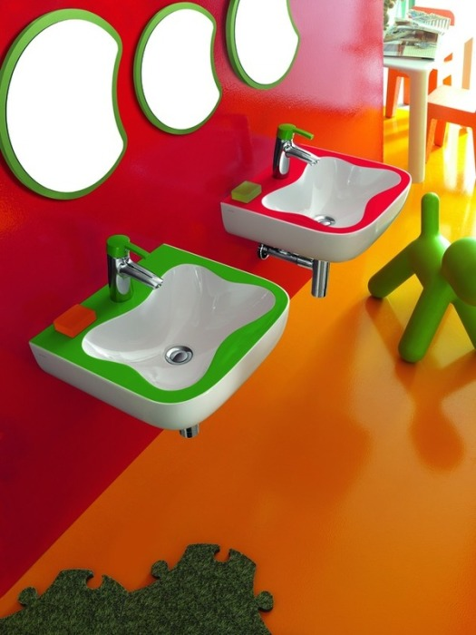 Профессиональное дизайнерское оформление ванной комнаты в стиле Китч.
