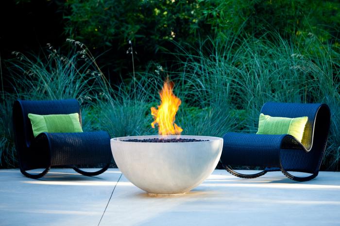 Сферический очаг, который поможет создать уютное место для отдыха.