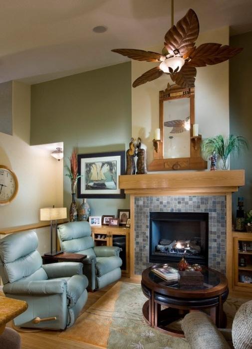 Необычные декоративные элементы, которые превращают небольшую гостиную комнату в просторное и комфортное помещение.