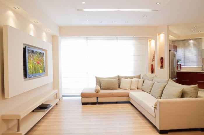 Максимально эффективное использование жилого пространства в гостиной.
